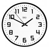 Настенные часы из металла B&S SHC-251 PEM (BL)