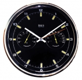 Настенные часы с термометром и гигрометром B&S SHC-905