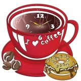 """Настенные часы Tiarella """"Чашка кофе"""""""
