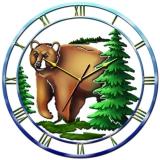 """Настенные часы Tiarella """"Медведь"""""""