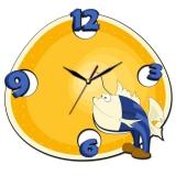 """Настенные часы Tiarella """"Рыбка"""""""