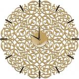Настенные часы Икониум 50 см (золото) засечки