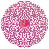Настенные часы Икониум (маджента) цифры