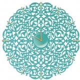 Настенные часы Икониум (бирюза) засечки