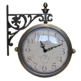 Настенные часы двусторонние на подвесе B&S M-195 CR (A)