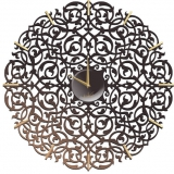 Настенные часы Икониум (черные) засечки