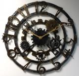 Настенные часы из металла Династия 07-006 с патиной