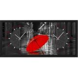 """Настенные часы из песка Династия 03-055 """"Зонтик"""""""