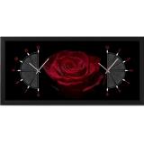 """Настенные часы из песка Династия 03-056 """"Роза"""""""