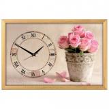 """Настенные часы из песка Династия 03-160 """"Букет роз"""""""