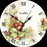 """Настенные часы из стекла Династия 01-018 """"Ягоды"""""""