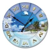 """Настенные часы из стекла Династия 01-019 """"Море"""""""