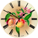 """Настенные часы Династия 02-011 """"Персики"""""""
