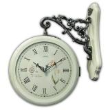 Настенные двусторонние часы B&S HR 7007W