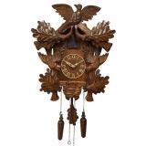 """Настенные часы с кукушкой Columbus CQ-055 """"Соловей в дубовой роще"""""""
